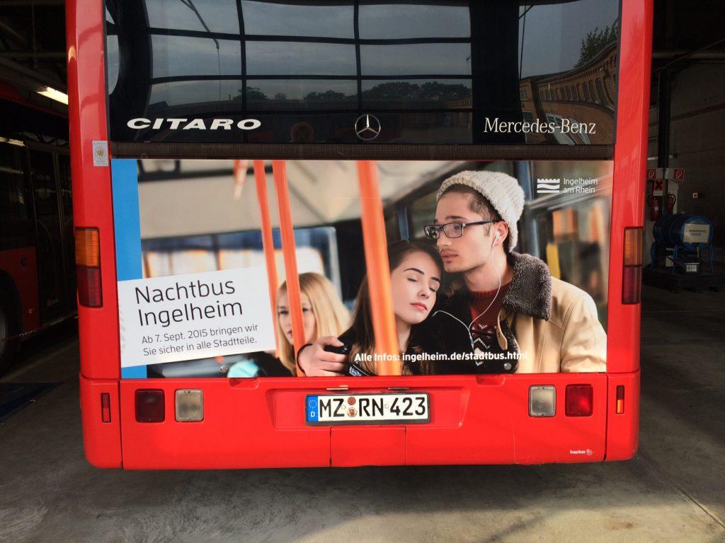 Zur Neueinführung eines Nachtbusses in Ingelheim am Rhein hat die Stadt Ingelheim HNA